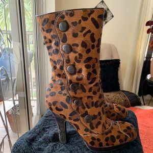 Sam Edelman Leopard Pony Boots
